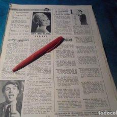 Coleccionismo de Revistas: RECORTE : MISS HOLANDA 1962, CANTANTE. ADAMO. LECTURAS, DCMBRE 1965(#). Lote 246320410