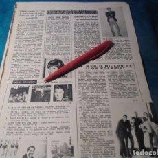 Coleccionismo de Revistas: RECORTE : EL GRUPO, LOS POLARIS. ADRIANO CELENTANO. LUISITA TENOR. LECTURAS, DCMBRE 1965(#). Lote 246320640