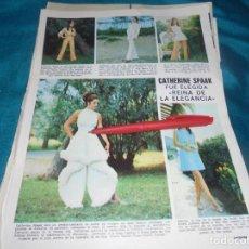 Coleccionismo de Revistas: RECORTE : CATHERINE SPAAK, REINA DE LA ELEGANCIA. LECTURAS, NVMBRE 1970(#). Lote 246463220