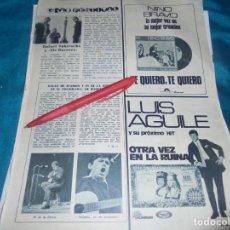 Coleccionismo de Revistas: RECORTE : GALAS DE RAIMON Y PI DE LA SERRA. RAFAEL SUBIRACHS. LECTURAS, NVMBRE 1970(#). Lote 246463435