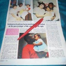 Coleccionismo de Revistas: RECORTE : PELÉ, AMENAZADO DE SECUESTRO. LECTURAS, NVMBRE 1970(#). Lote 246463705