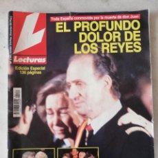 Coleccionismo de Revistas: REVISTA LECTURAS. EL PROFUNDO DOLOR DE LOS REYES PER LA MUERTE DE DON JUAN. ABRIL 93. Lote 246549645
