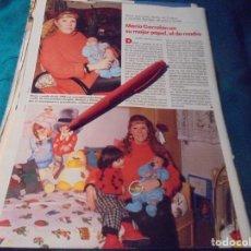 Coleccionismo de Revistas: RECORTE : MARIA GARRALON, DE VERANO AZUL. LECTURAS, FBRO 1990 (#). Lote 249196685