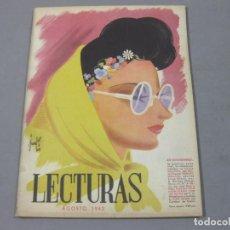 Coleccionismo de Revistas: REVISTA LECTURAS DE AGOSTO DE 1942 Nº 214. Lote 252226705