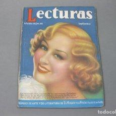 Coleccionismo de Revistas: REVISTA LECTURAS DE SEPTIEMBRE DE 1934 Nº 160. Lote 252227845