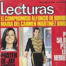 Coleccionismo de Revistas: REVISTA LECTURAS Nº 1023, ALFONSO DE BORBON Y Mª CARMEN MARTINEZ BORDIU, RAINIERO DE MONACO, MARISOL. Lote 252527255