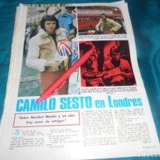 Collectionnisme de Magazines: RECORTE : CAMILO SESTO, EN LONDRES. LECTURAS, MARZO 1972 (#). Lote 252588925