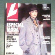 Coleccionismo de Revistas: REVISTA LECTURAS. ESPECIAL MODA. COLECCIONES OTOÑO INVIERNO. AÑO 1993 - 1994. Lote 252857385