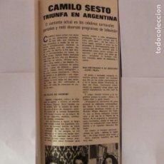 Collezionismo di Riviste: RECORTE CLIPPING DE CAMILO SESTO REVISTA LECTURAS Nº 1094 PAG. 77 L37. Lote 253216745