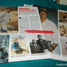Collectionnisme de Magazines: RECORTE : LA SERIE MACGYVER. LECTURAS, DCMBRE 1987(#). Lote 254163135