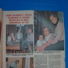 Coleccionismo de Revistas: RECORTE CLIPPING DE LAURA VALENZUELA REVISTA LECTURAS Nº 1196 PAG. 9 Y 10 L38. Lote 254225535