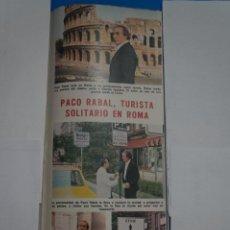 Coleccionismo de Revistas: RECORTE CLIPPING DE PACO RABAL REVISTA LECTURAS Nº 1121 PAG. 117 L38. Lote 254227195