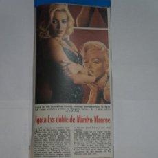Coleccionismo de Revistas: RECORTE CLIPPING DE AGATA LYS REVISTA LECTURAS Nº 1121 PAG. 113 L38. Lote 254227590