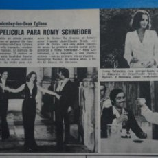 Coleccionismo de Revistas: RECORTE CLIPPING DE ROMY SCHNEIDER REVISTA LECTURAS Nº 1121 PAG. 90 L38. Lote 254228420