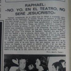 Coleccionismo de Revistas: RECORTE CLIPPING DE RAPHAEL REVISTA LECTURAS Nº 1121 PAG. 86 L38. Lote 254228600