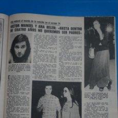 Coleccionismo de Revistas: RECORTE CLIPPING DE VICTOR MANUEL Y ANA BELEN REVISTA LECTURAS Nº 1121 PAG. 79 L38. Lote 254228905