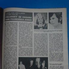 Coleccionismo de Revistas: RECORTE CLIPPING DE POLANSKY Y FRANCESCA ANNIS REVISTA LECTURAS Nº 1121 PAG. 77 L38. Lote 254229150
