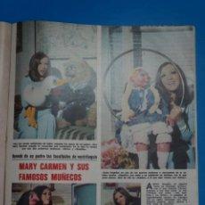 Coleccionismo de Revistas: RECORTE CLIPPING DE MARY CARMEN Y SUS MUÑECOS REVISTA LECTURAS Nº 1121 PAG. 71-72 L38. Lote 254229680