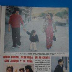 Coleccionismo de Revistas: RECORTE CLIPPING DE ROCIO DURCAL Y JUNIOR REVISTA LECTURAS Nº 1121 PAG. 57-58 L38. Lote 254230445