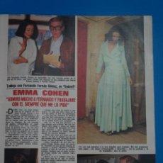 Coleccionismo de Revistas: RECORTE CLIPPING DE EMMA COHEN REVISTA LECTURAS Nº 1121 PAG. 47-48 L38. Lote 254231010