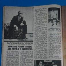 Coleccionismo de Revistas: RECORTE CLIPPING DE FERNANDO FERNAN GOMEZ REVISTA LECTURAS Nº 1121 PAG. 44 L38. Lote 254231280