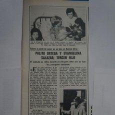 Coleccionismo de Revistas: RECORTE CLIPPING DE PALITO ORTEGA REVISTA LECTURAS Nº 1121 PAG. 37 L38. Lote 254231555