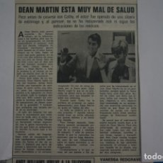 Coleccionismo de Revistas: RECORTE CLIPPING DE DEAN MARTIN REVISTA LECTURAS Nº 1121 PAG. 21 L38. Lote 254232165