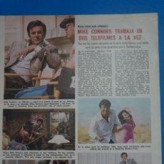 Coleccionismo de Revistas: RECORTE CLIPPING DE MIKE CONNORS REVISTA LECTURAS Nº 1121 PAG. 11 L38. Lote 254232370