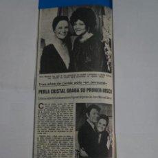 Coleccionismo de Revistas: RECORTE CLIPPING DE PERLA CRISTAL REVISTA LECTURAS Nº 1122 PAG. 66 L38. Lote 254251205