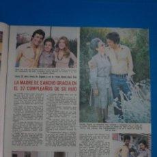Coleccionismo de Revistas: RECORTE CLIPPING DE SANCHO GRACIA REVISTA LECTURAS Nº 1122 PAG. 9 L38. Lote 254252325