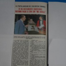 Coleccionismo de Revistas: RECORTE CLIPPING DE VALENTIN TORNOS DON CICUTA REVISTA LECTURAS Nº 1105 PAG. 83 L38. Lote 254253695