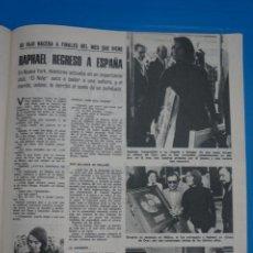 Coleccionismo de Revistas: RECORTE CLIPPING DE RAPHAEL REVISTA LECTURAS Nº 1105 PAG. 57 L38. Lote 254254295