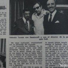 Coleccionismo de Revistas: RECORTE CLIPPING DE VALENTIN TORNOS REVISTA LECTURAS Nº 1105 PAG. 56 L38. Lote 254254450