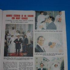 Coleccionismo de Revistas: RECORTE CLIPPING DE MANOLO ESCOBAR LECTURAS Nº 1105 PAG. 39 L38. Lote 254255275