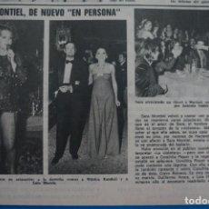 Coleccionismo de Revistas: RECORTE CLIPPING DE SARA MONTIEL LECTURAS Nº 1105 PAG. 33 L38. Lote 254255700