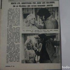 Coleccionismo de Revistas: RECORTE CLIPPING DE AGATA LYS LECTURAS Nº 1105 PAG. 32 L38. Lote 254255850