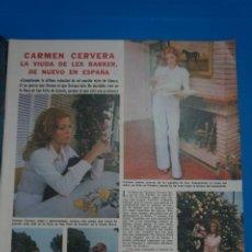 Coleccionismo de Revistas: RECORTE CLIPPING DE CARMEN CERVERA LECTURAS Nº 1105 PAG. 7 Y 8 L38. Lote 254256620