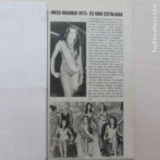 Collezionismo di Riviste: RECORTE CLIPPING DE PURIFICACION MARTÍN MISS MADRID 1973 REVISTA LECTURAS Nº 1113 PAG. 23 L40. Lote 254500000
