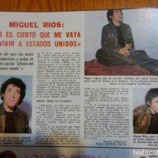 Coleccionismo de Revistas: RECORTE CLIPPING DE MIGUEL RIOS REVISTA LECTURAS Nº 1102 PAG. 4 L39. Lote 254520645