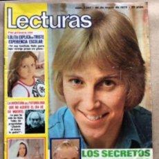 Coleccionismo de Revistas: REVISTA LECTURAS N°1241, DEL AÑO 1976. LOLITA FLORES, ROSARIO FLORES, POSTER DANNY DANEL, MICKY, .... Lote 135108322