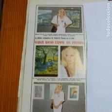 Collezionismo di Riviste: RECORTE CLIPPING DE MARGIT KOCSIS MODELO REVISTA LECTURAS Nº 1120 PAG. 112 L39. Lote 254725875