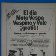 Coleccionismo de Revistas: RECORTE CLIPPING DE MOTO VESPA Y VESPINO REVISTA LECTURAS Nº 1555 PAG. 74 L42. Lote 256000545