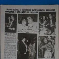 Coleccionismo de Revistas: RECORTE CLIPPING DE MANOLO SEGURA REVISTA LECTURAS Nº 1561 PAG. 104 L42. Lote 256015925