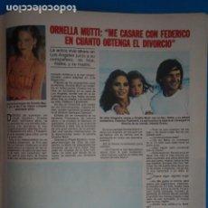 Coleccionismo de Revistas: RECORTE CLIPPING DE ORNELLA MUTTI REVISTA LECTURAS Nº 1561 PAG. 113-114 L42. Lote 256016445