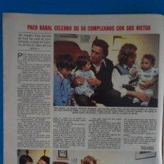 Coleccionismo de Revistas: RECORTE CLIPPING DE PACO RABAL REVISTA LECTURAS Nº 1562 PAG. 4 L42. Lote 256016945