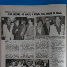 Coleccionismo de Revistas: RECORTE CLIPPING DE KIKO LEDGARD REVISTA LECTURAS Nº 1562 PAG. 37 L42. Lote 256017690
