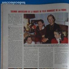 Coleccionismo de Revistas: RECORTE CLIPPING DE FELIX RODRIGUEZ DE LA FUENTE REVISTA LECTURAS Nº 1562 PAG. 42 L42. Lote 256018165