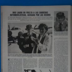 Coleccionismo de Revistas: RECORTE CLIPPING DE NIKI LAUDA REVISTA LECTURAS Nº 1562 PAG. 80 L42. Lote 256019540
