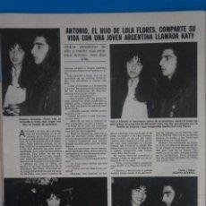 Coleccionismo de Revistas: RECORTE CLIPPING DE ANTONIO FLORES REVISTA LECTURAS Nº 1562 PAG. 82 L42. Lote 256019745