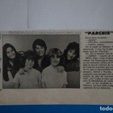 Coleccionismo de Revistas: RECORTE CLIPPING DE PARCHIS REVISTA LECTURAS Nº 1562 PAG. 88 L42. Lote 256020125
